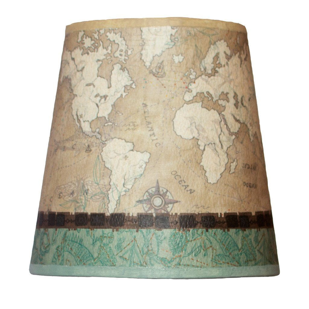 Voyages in Sand Accent Drum Lamp Shade