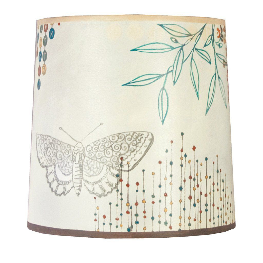 Journeys in Ecru Medium Drum Lamp Shade