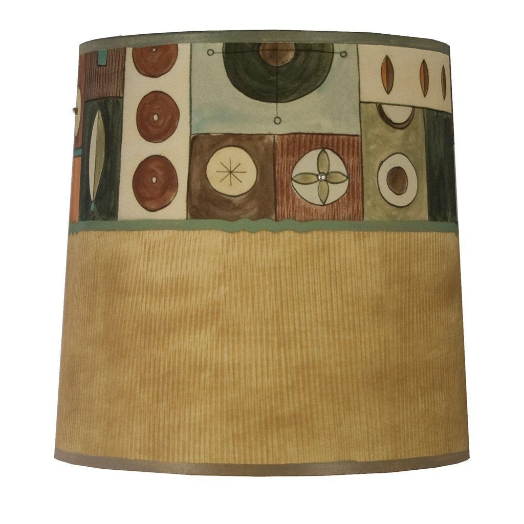 Lucky Mosaic in Hickory Medium Drum Lamp Shade