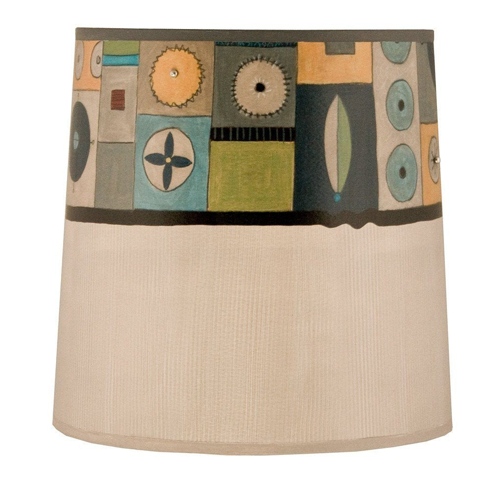 Lucky Mosaic in Oyster Medium Drum Lamp Shade
