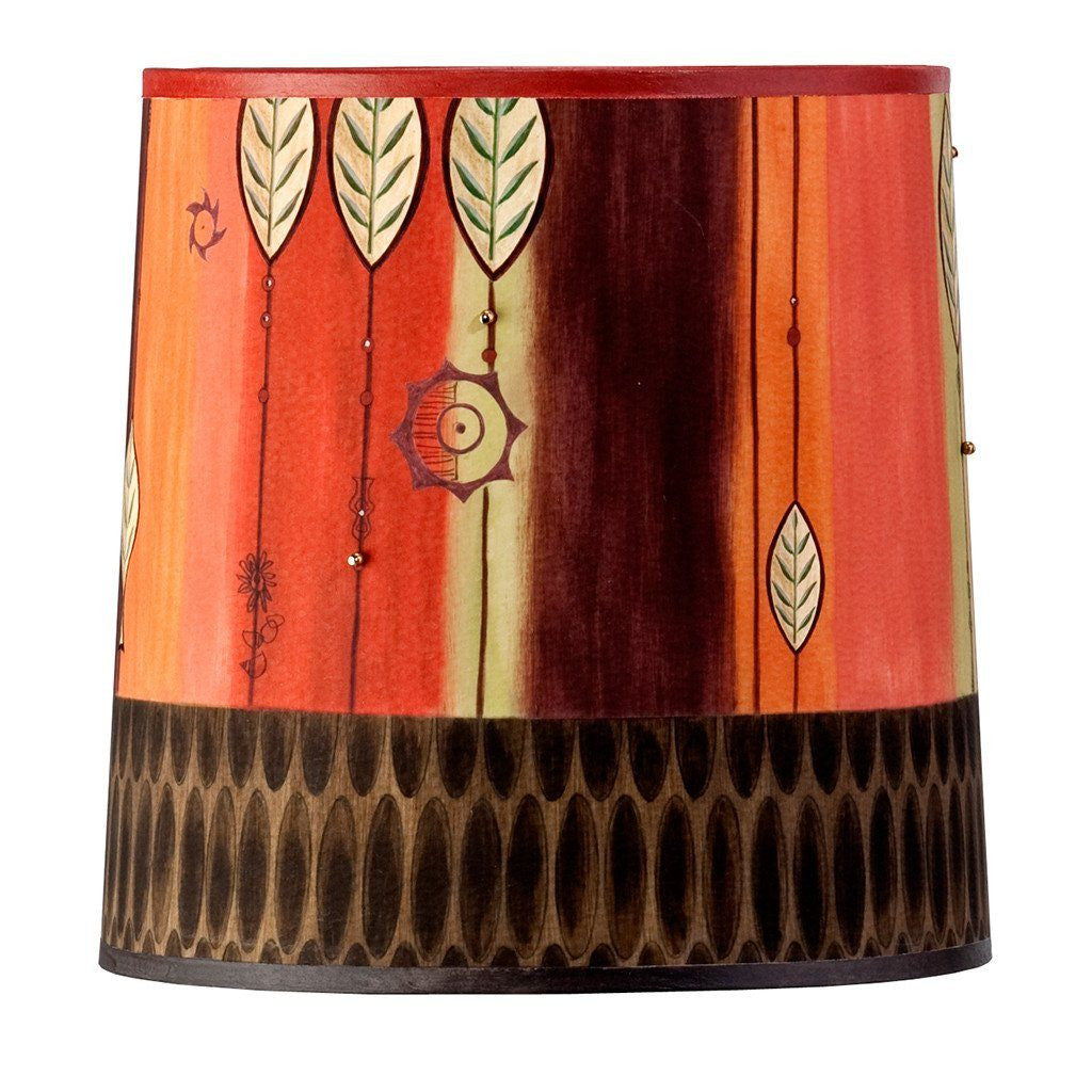 Leaf Stripe Multi Medium Drum Lamp Shade
