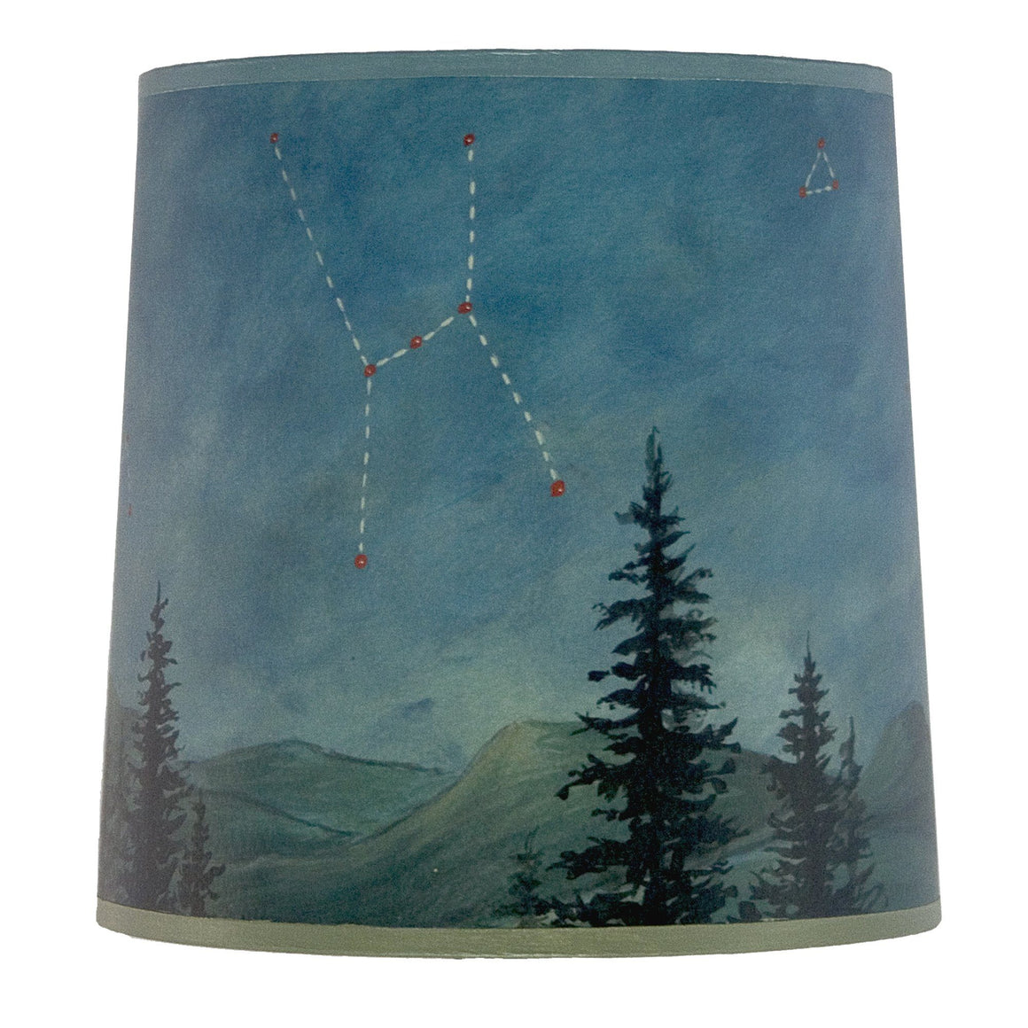 Medium Drum Lamp Shade in Midnight Sky