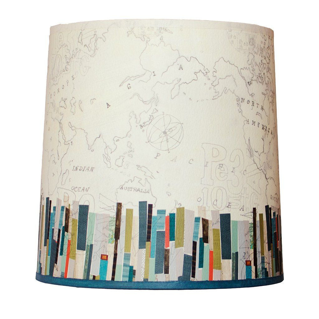 Medium replacement lamp shades ugone thomas papers edge medium drum lamp shade aloadofball Images