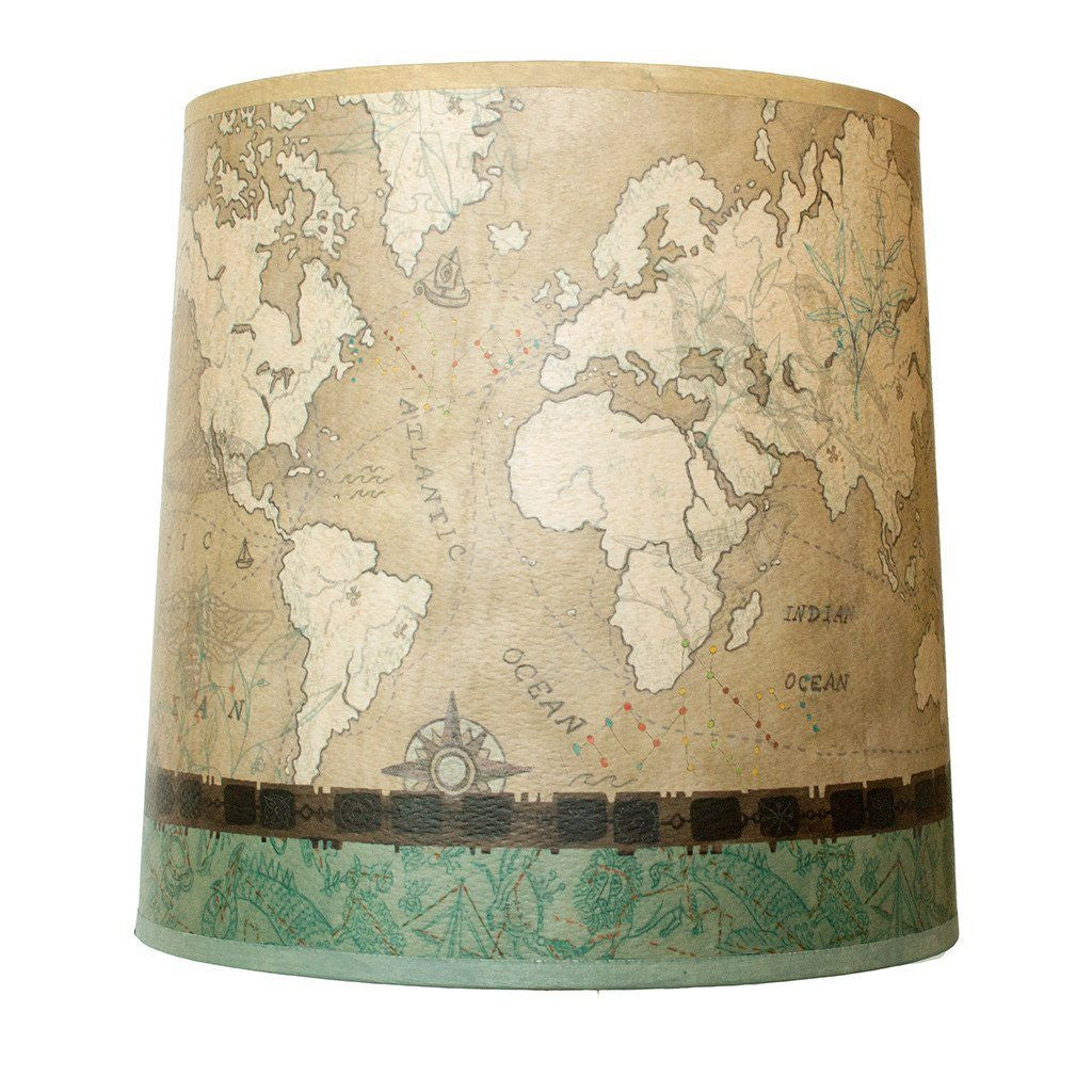 Voyages in Sand Medium Drum Lamp Shade