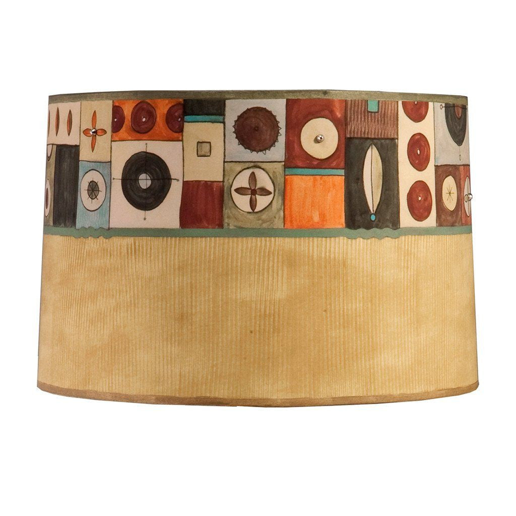 Lucky Mosaic in Hickory Large Drum Lamp Shade