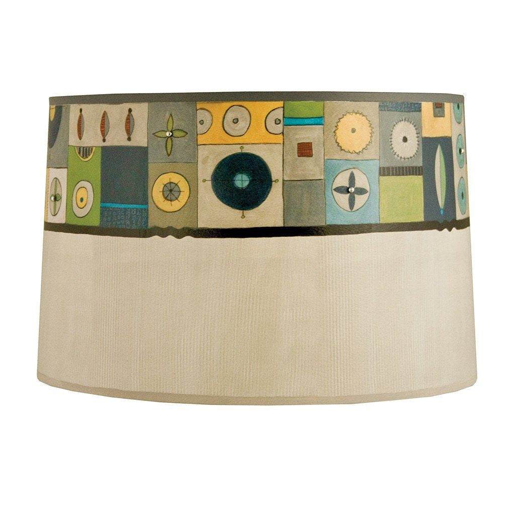 Lucky Mosaic in Oyster Large Drum Lamp Shade