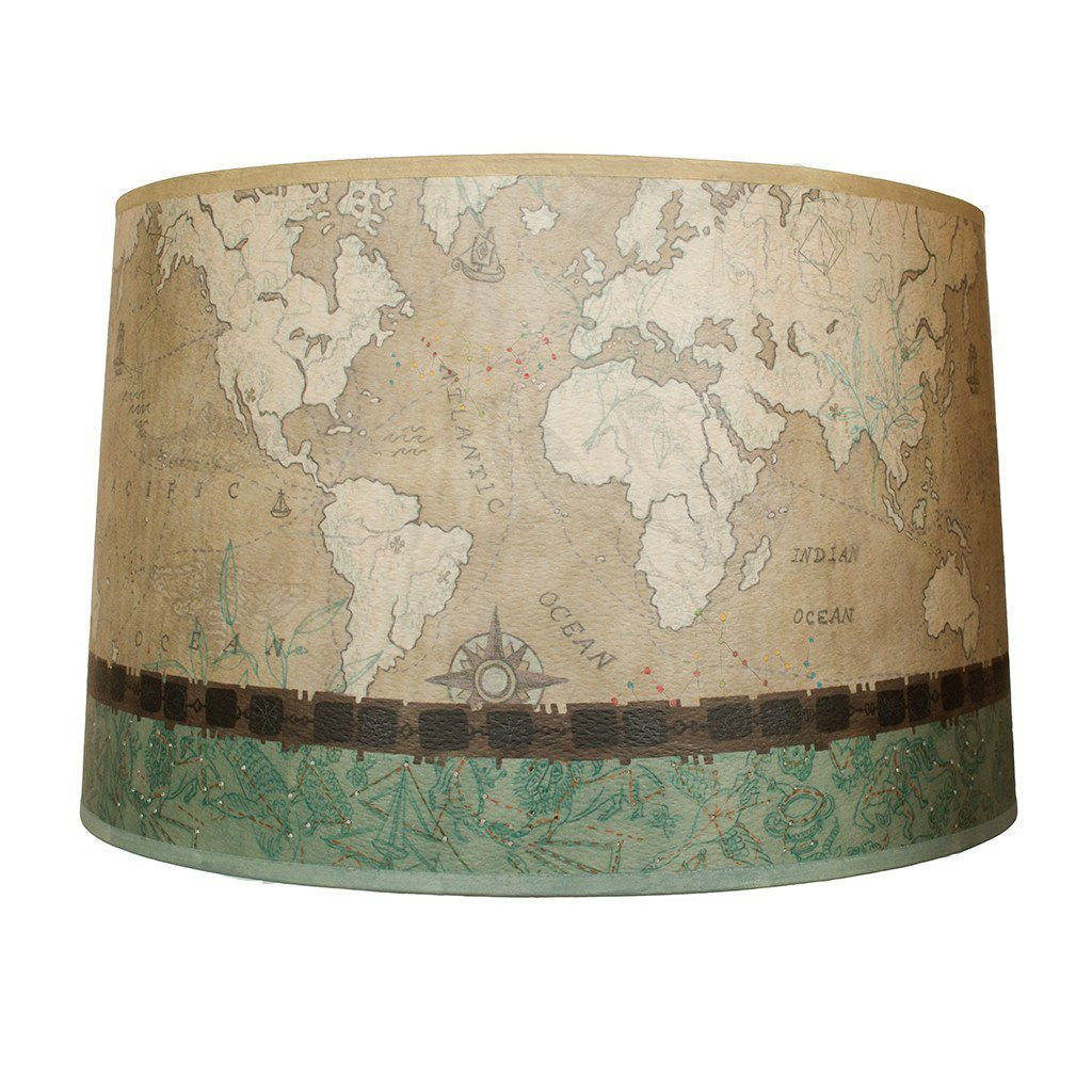 Voyages in Sand Large Drum Lamp Shade