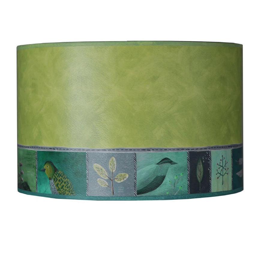 Large Drum Lamp Shade in Woodland Trails in Leaf