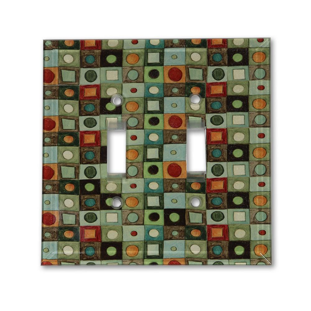 Double Glass Switchplate in Mosaic