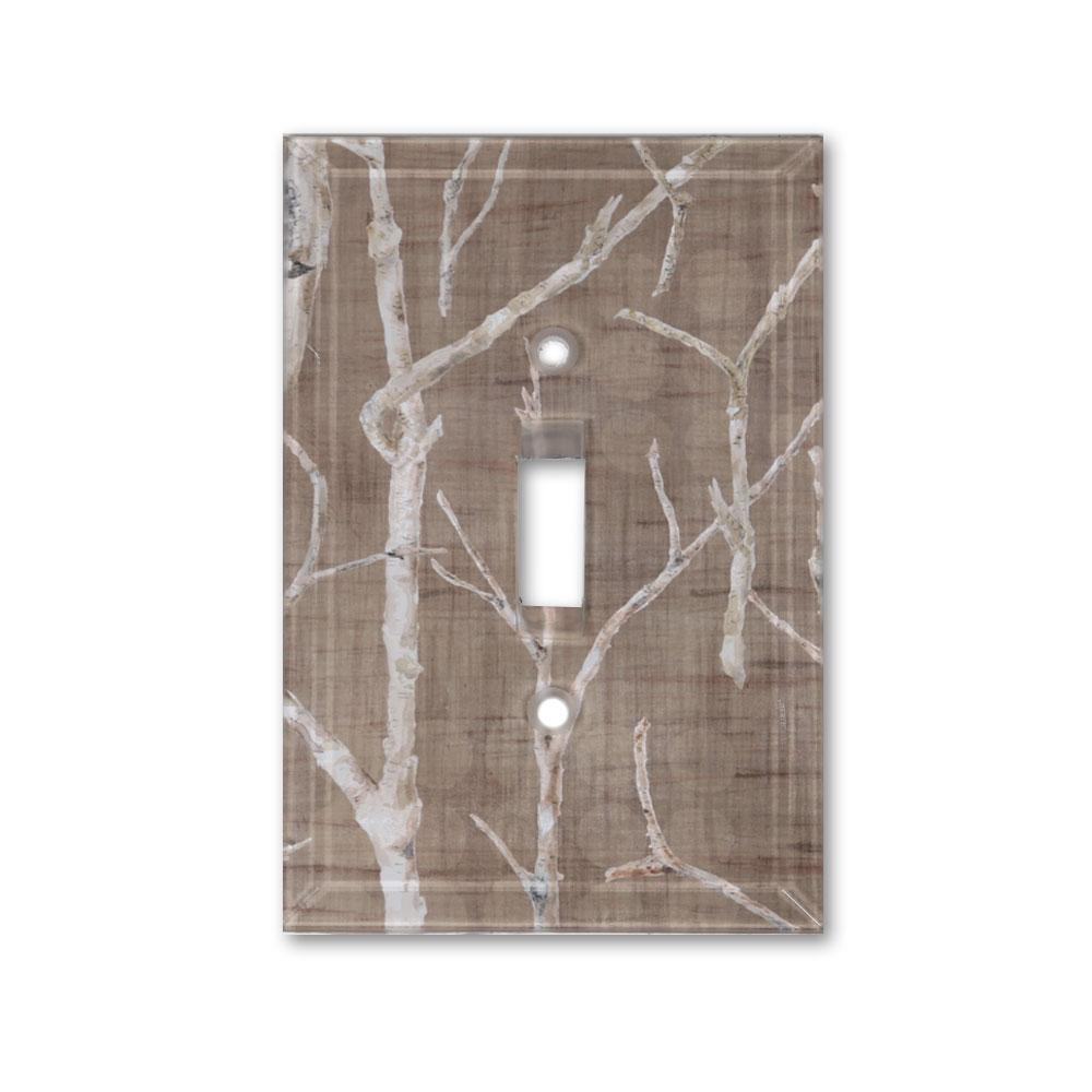 Glass Switchplate in Twigs