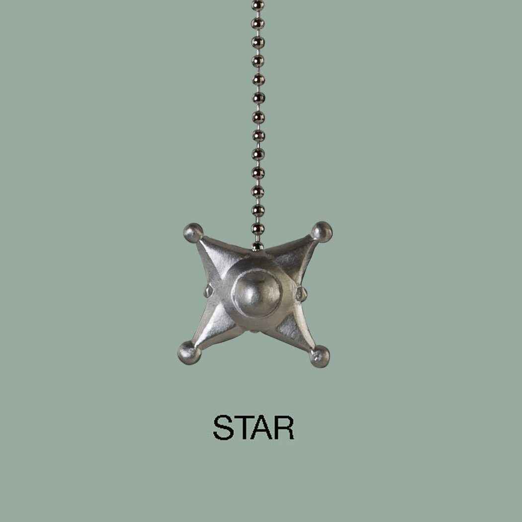 Star Pewter Pull Chain
