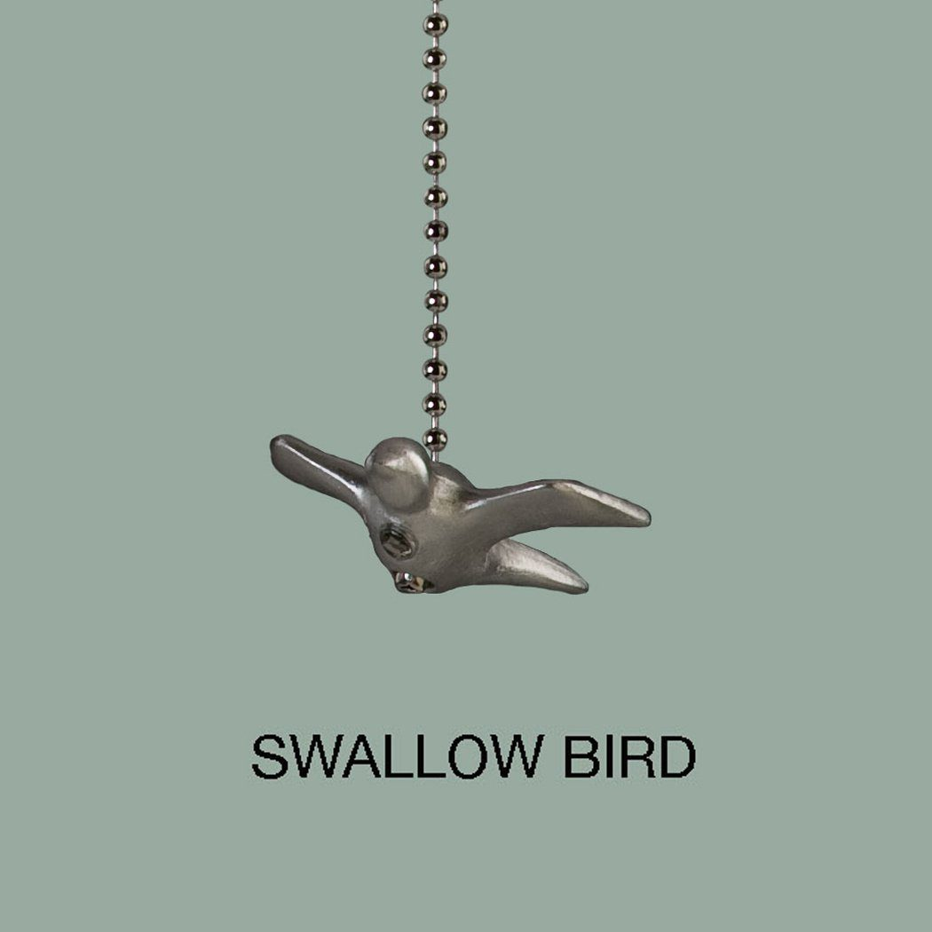 Swallow Bird Pewter Pull Chain