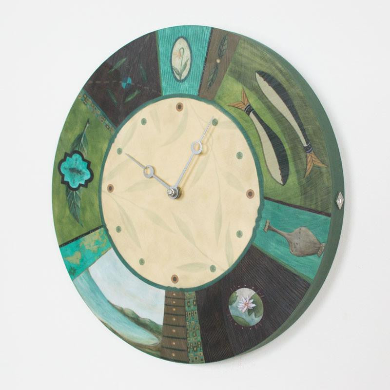 Round Wall Clock in Twin Fish