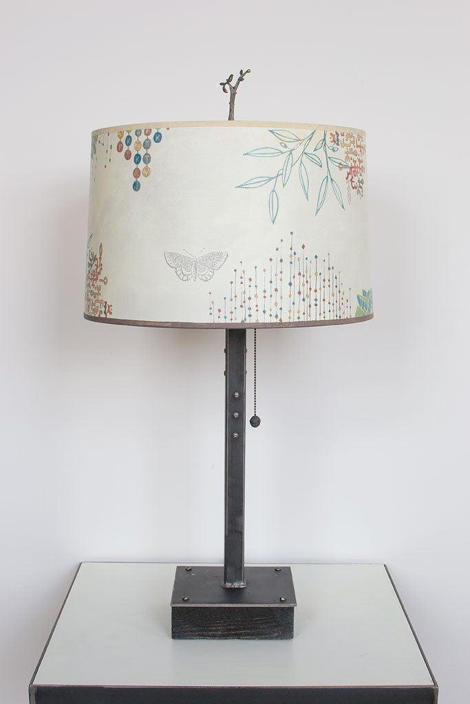 Journeys in Ecru Table Lamp with Large Drum Shade