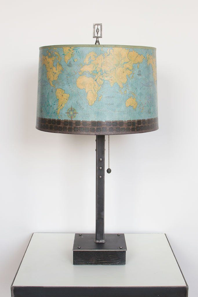 Voyages Table Lamp with Large Drum Shade