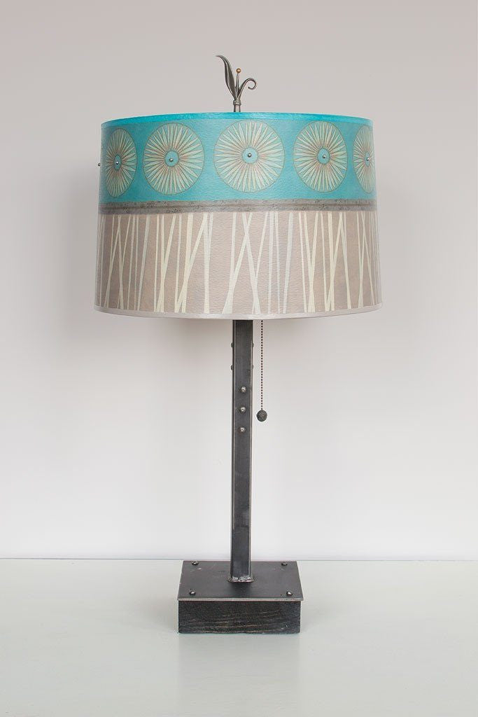 Pool Table Lamp with Large Drum Shade