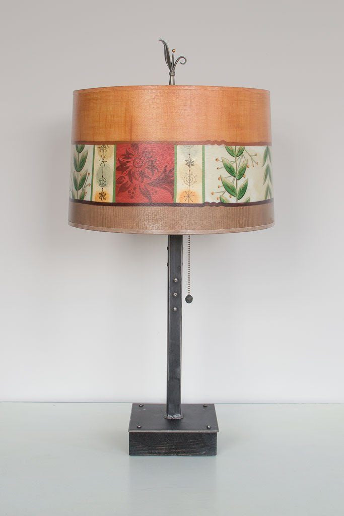 Spring Medley Spice Table Lamp with Large Drum Shade