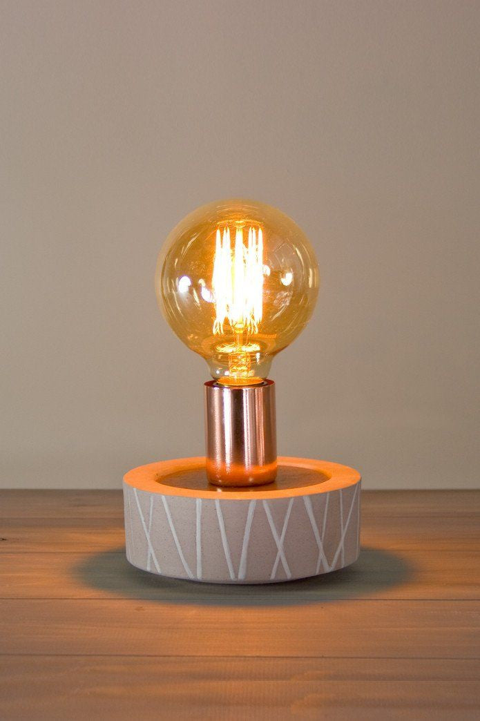 Edison Bulb Table Lamp in Birch