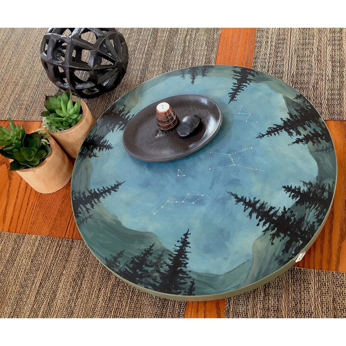 Large Lazy Susan in Midnight