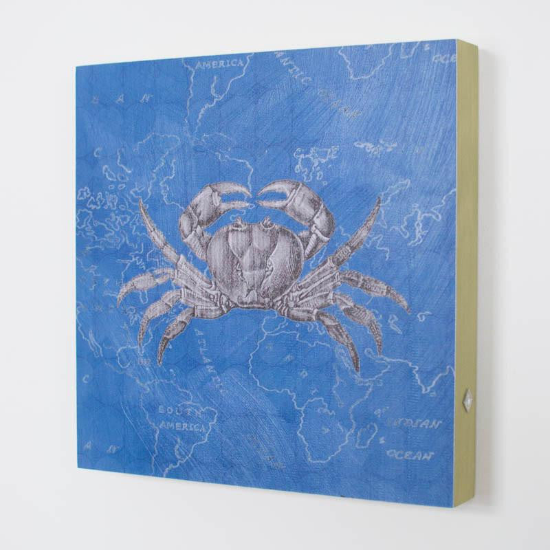 Blue Crab Square Art Panel