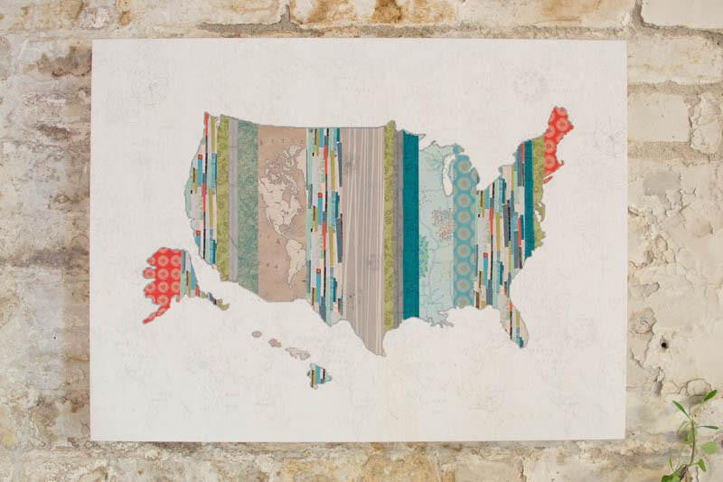 US Map Wall Art