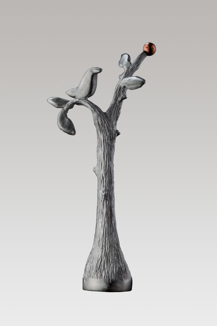 Perch Finial in Blackened Pewter