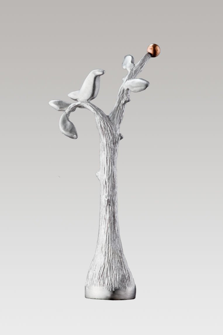 Perch Finial in Satin Pewter