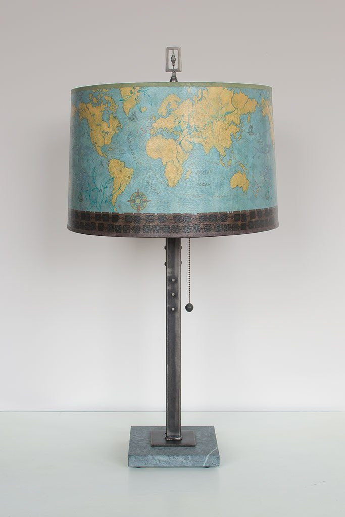 Voyage Table Lamp with Large Drum Shade