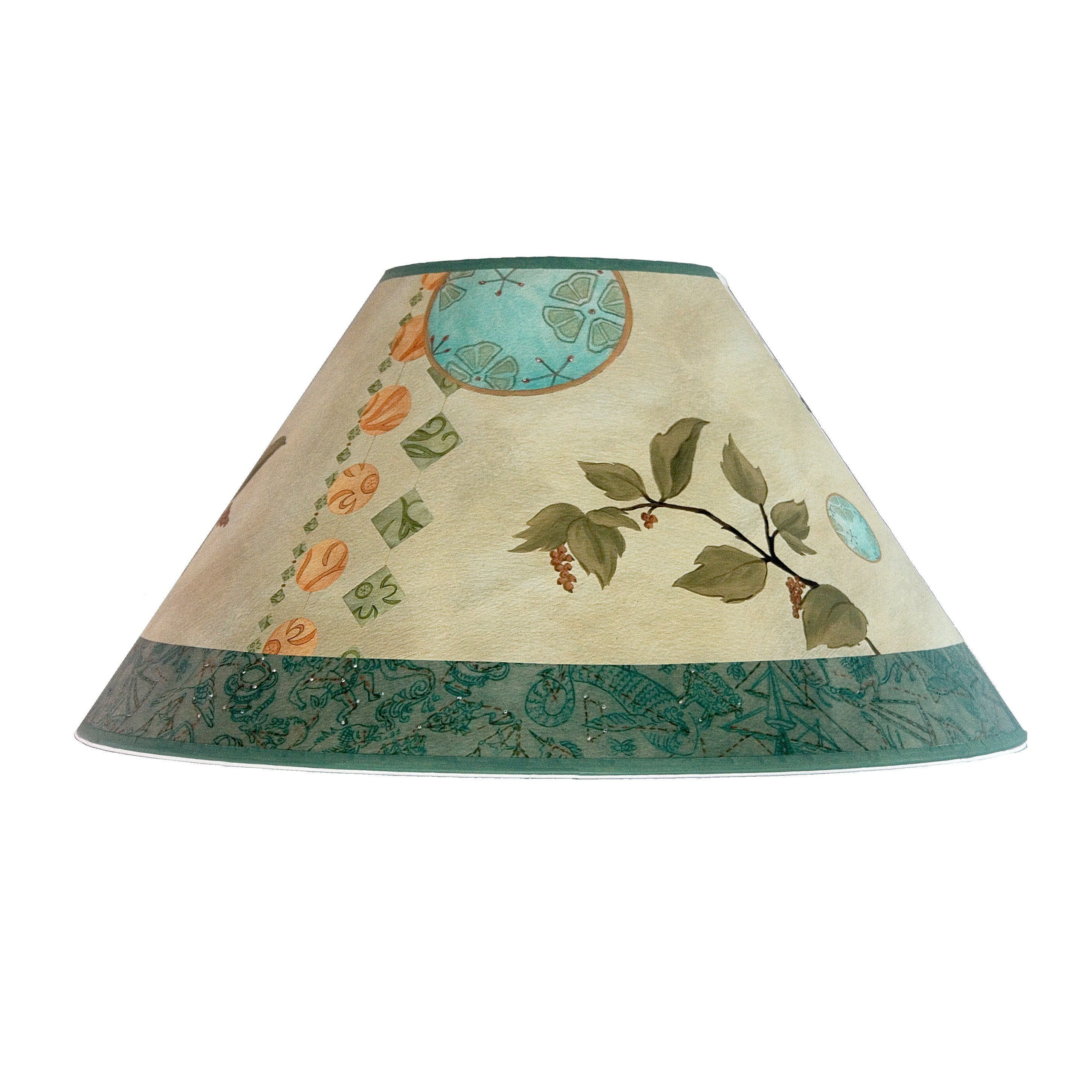 large conical lamp shade in celestial leaf - Large Lamp Shades
