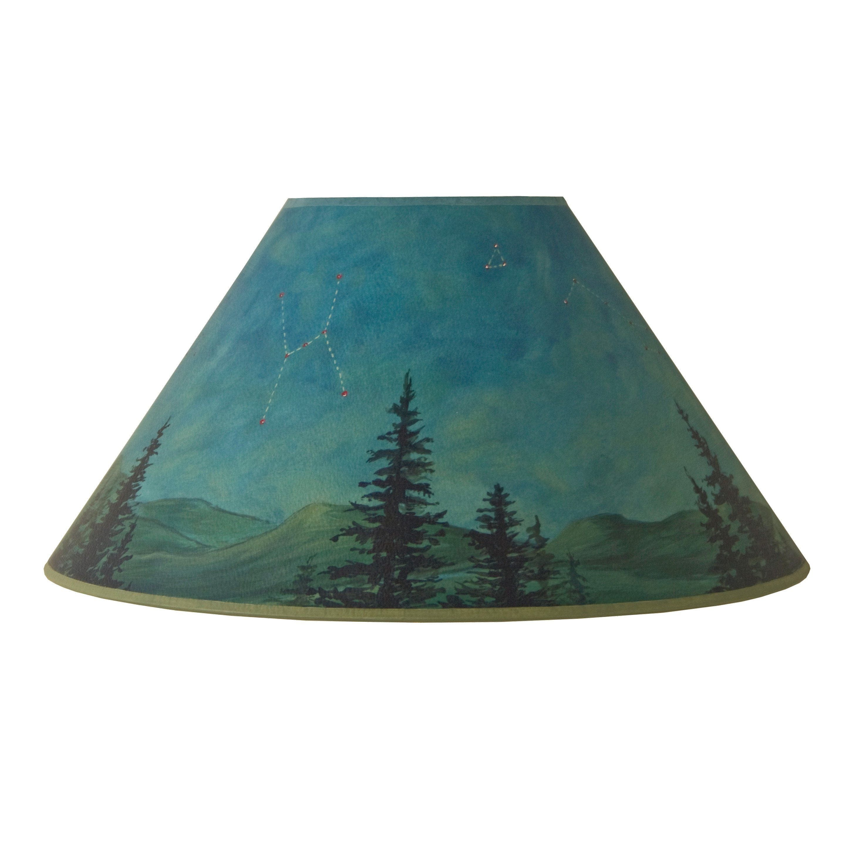 large conical lamp shade in midnight sky - Large Lamp Shades