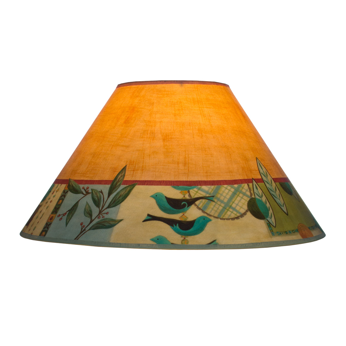 Orange and turquoise lamp shade -  Large Conical Lamp Shade In New Capri Spice
