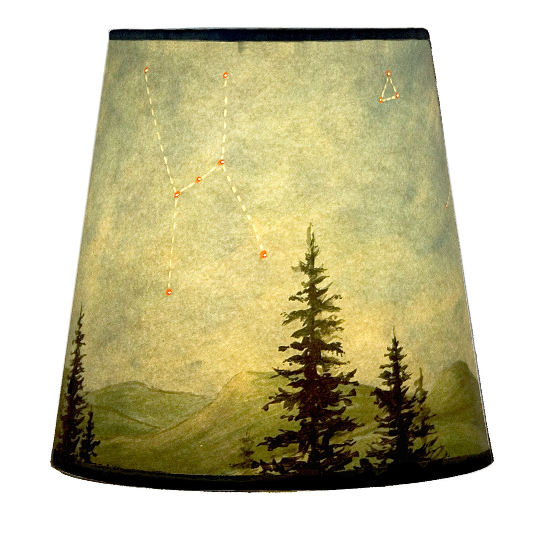small drum lamp shade in lucky mosaic maroon  ugone  thomas - small drum lamp shade in midnight sky
