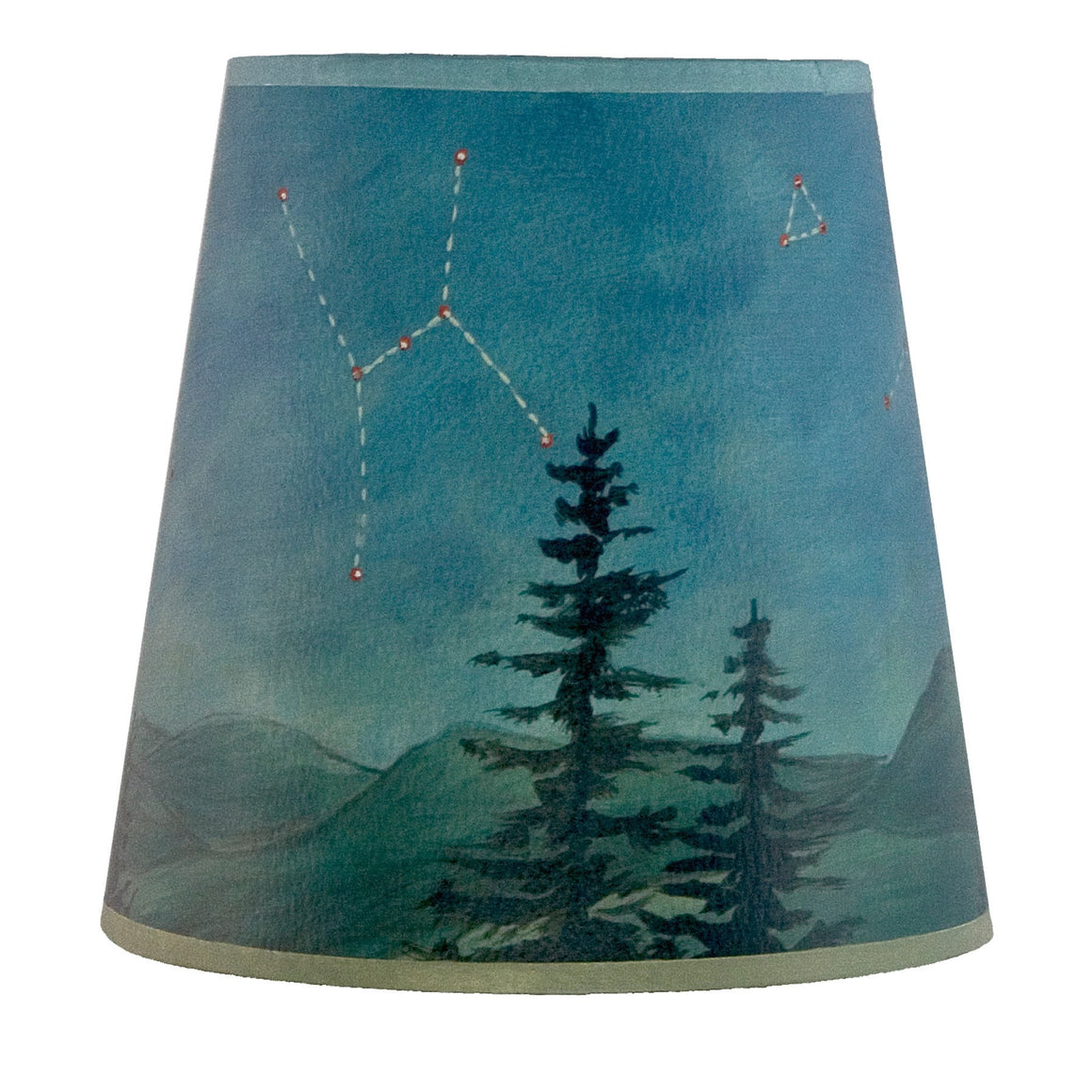 Small Drum Lamp Shade in Midnight Sky
