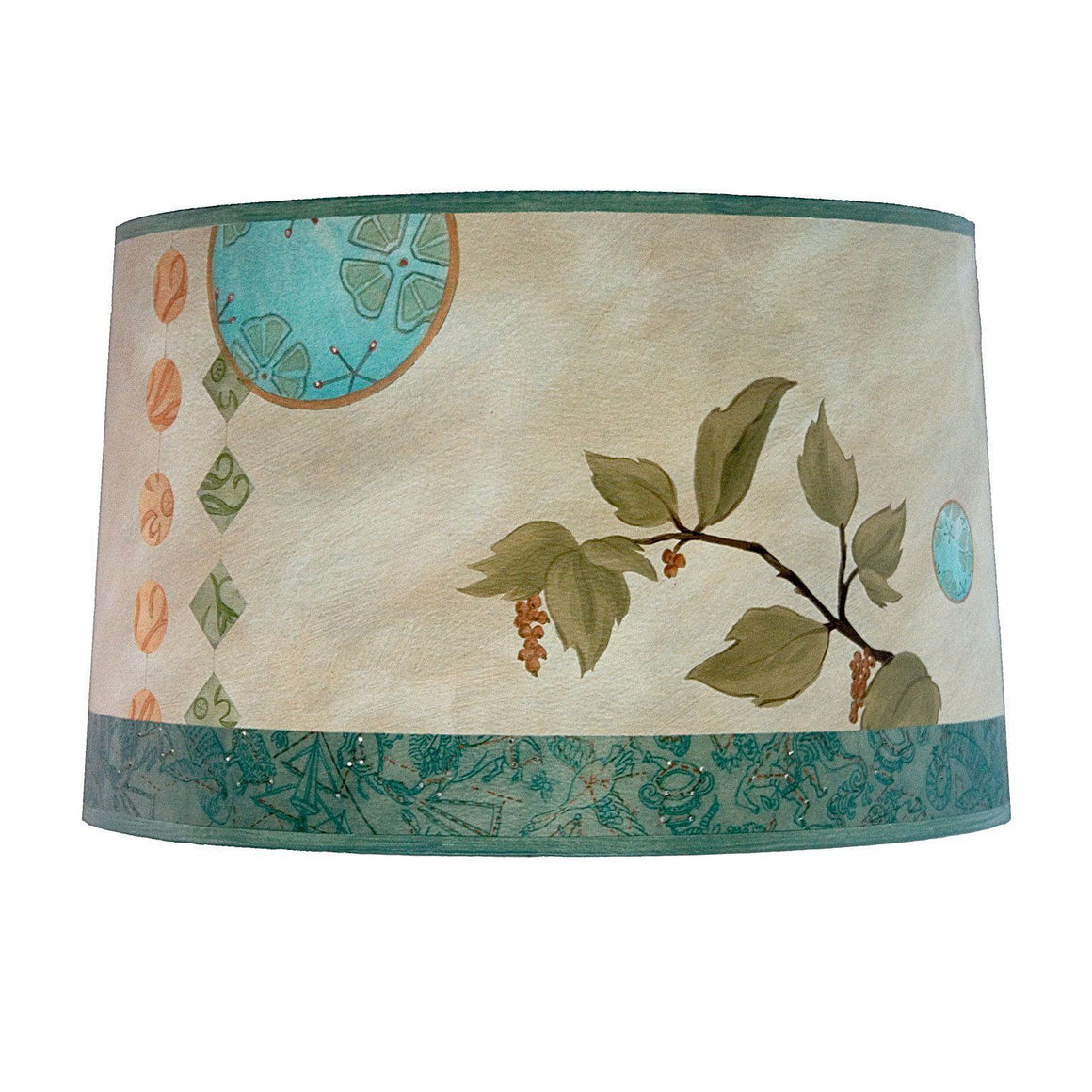 Celestial Leaf Large Drum Lamp Shadelit