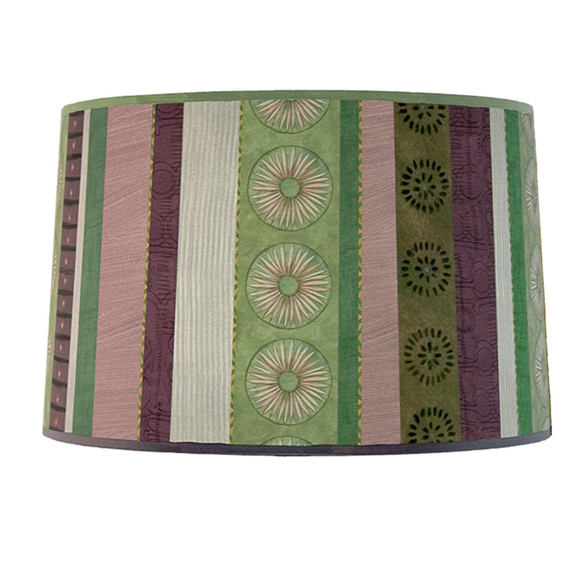 Large Drum Lamp Shade in Serape Amethyst