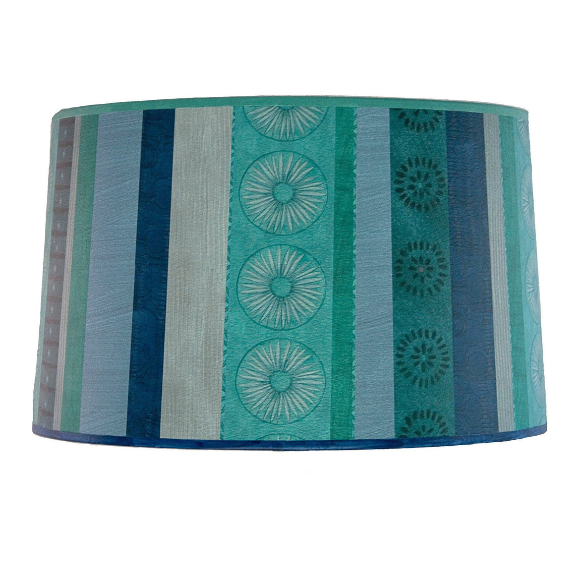 Serape Waters Large Drum Lamp Shade lit