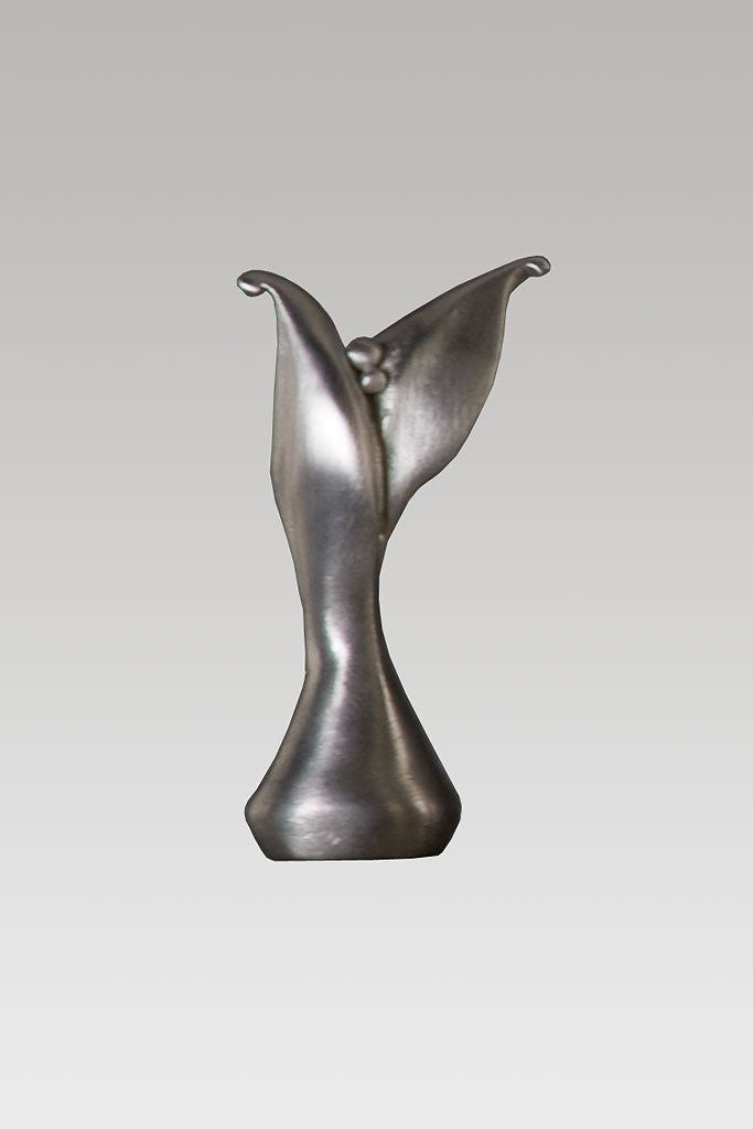 Simple Leaf Finial in Blackened Pewter
