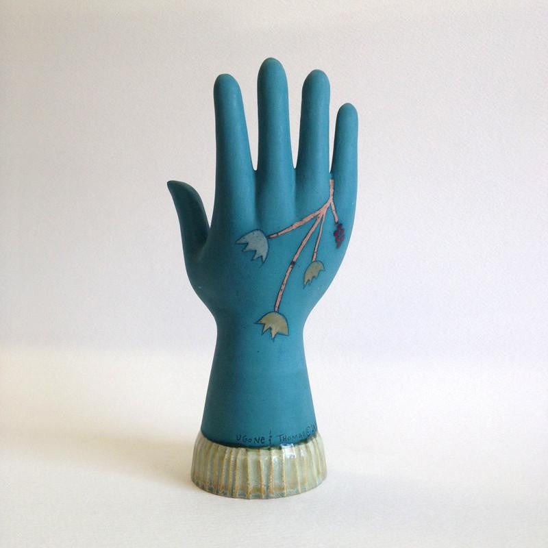 Ceramic Jewelry Holder in Lucca Teal front