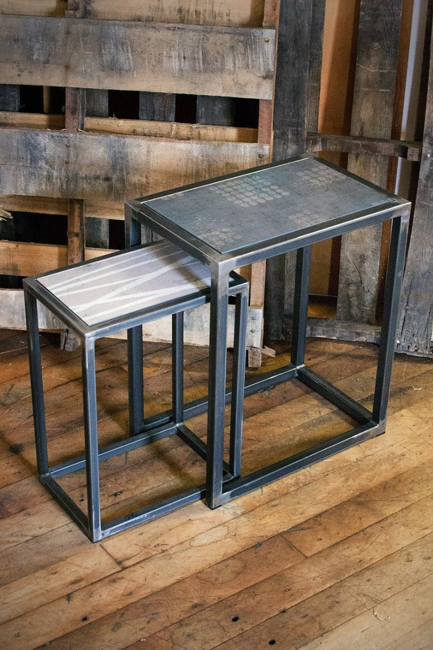 Steel Nesting Table Set in Birch & Graphite Journey