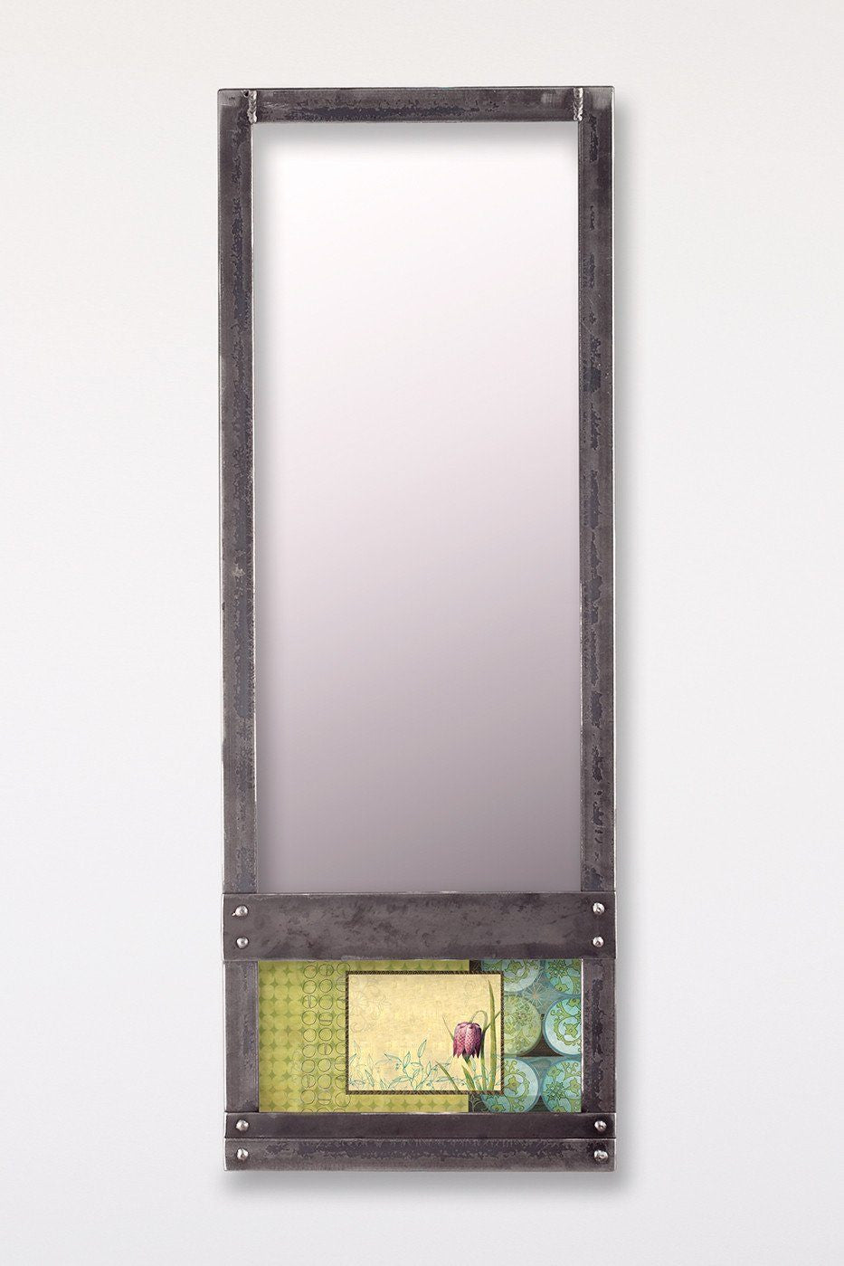 Steel Wall Mirror in Lily