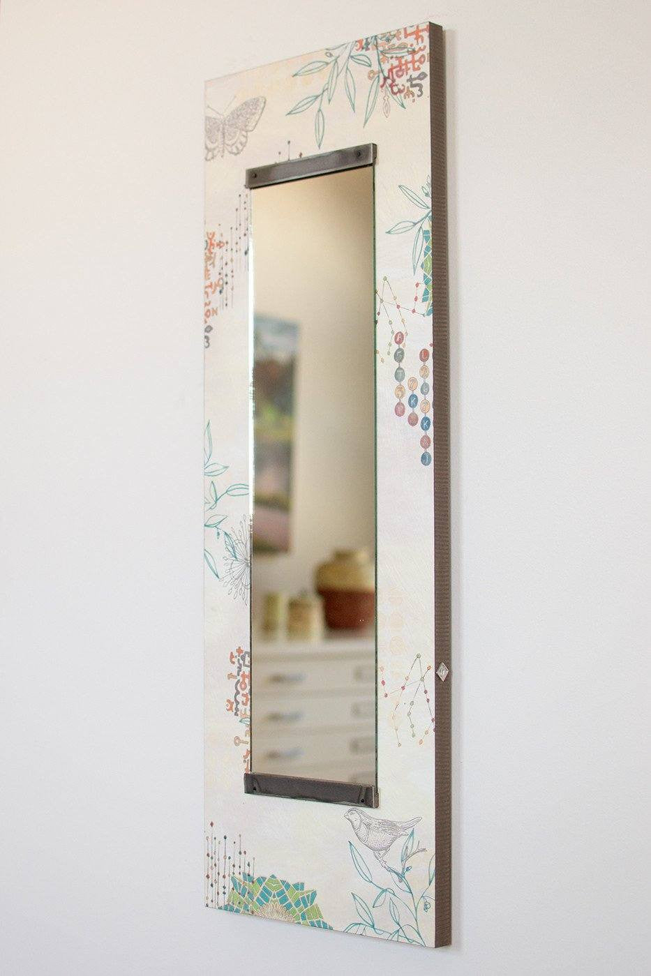 Tall Wall Mirror in Ecru Journey