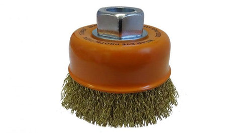 Josco 153MBR 75mm Multi-Thread Crimped Brass Cup Brush