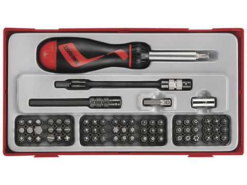 Teng TTMD74 Screwdriver Set w/ Ratchet Bit 74pce