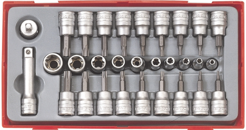 Teng TTTX30 Torx and Socket Bit Set 30pce