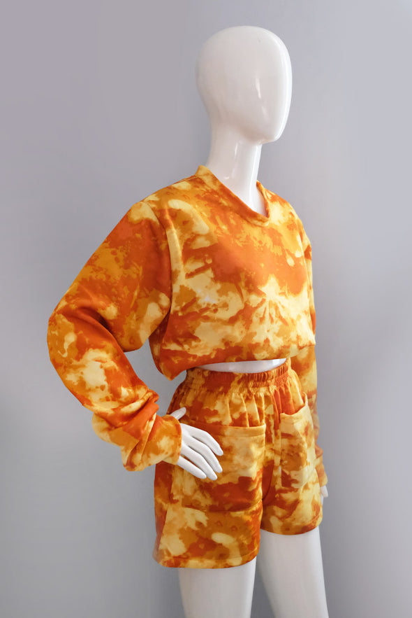 Hey Sunshine Sweater Set - Tie Dye Yellow