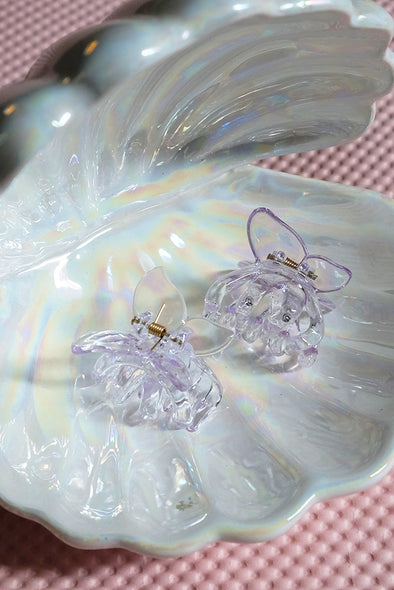 Butterfly Hair Clamp - Crystal Purple