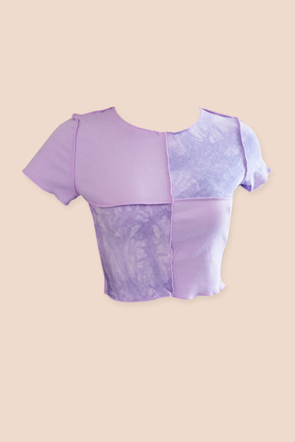 Jade Crop Top - Lilac