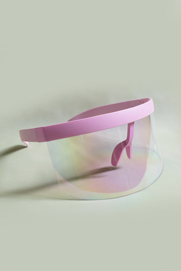 Eye Shield Visor - Pink Crystal