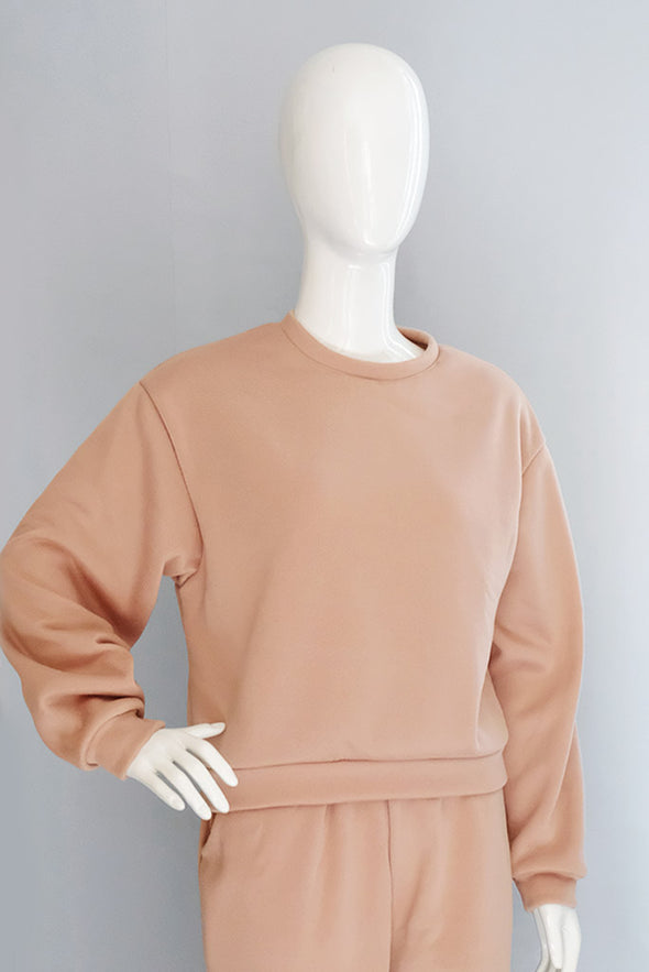 Hailey Sweater Set - Light Brown