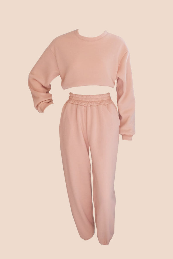 Hailey Sweater Set - Nude